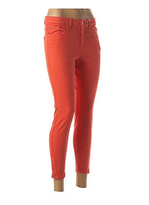 Jeans coupe slim orange B.YOUNG pour femme
