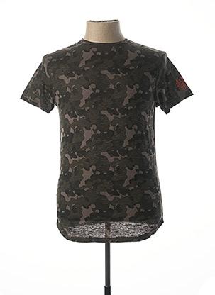 T-shirt manches courtes vert RITCHIE pour homme