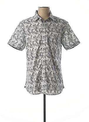 Chemise manches courtes gris TIBET pour homme