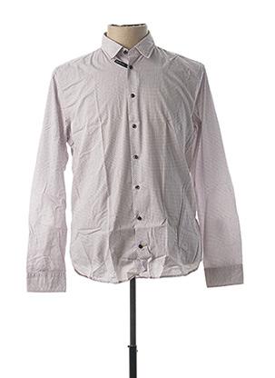 Chemise manches longues blanc SEIDEN STICKER pour homme