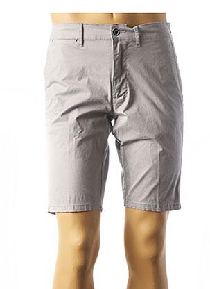 Bermuda gris LCDN pour homme