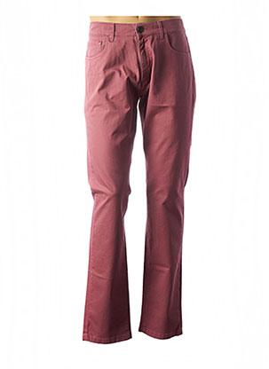 Pantalon casual rose LCDN pour homme