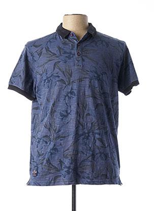 Polo manches courtes bleu RITCHIE pour homme