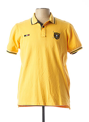 Polo manches courtes jaune SHILTON pour homme