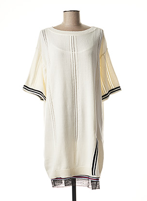 Robe pull beige MY TWIN pour femme