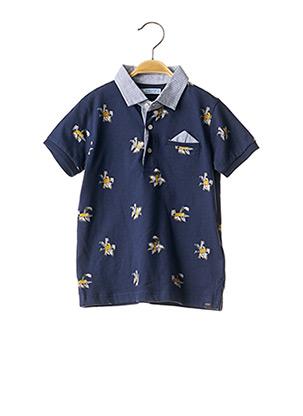 Polo manches courtes bleu MAYORAL pour garçon