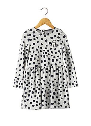 Robe mi-longue gris PETIT BATEAU pour fille
