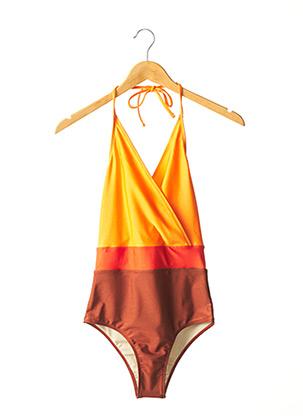 Maillot de bain 1 pièce orange FRENCH DISORDER pour femme
