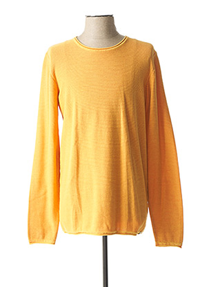 Pull col rond orange DSTREZZED pour homme