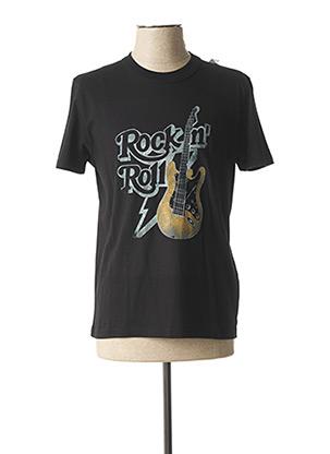 T-shirt manches courtes noir FABULOUS ISLAND pour homme
