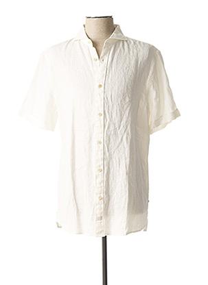 Chemise manches courtes beige SCOTCH & SODA pour homme