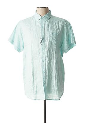 Chemise manches courtes bleu DSTREZZED pour homme
