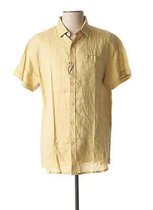 Chemise manches courtes marron DSTREZZED pour homme