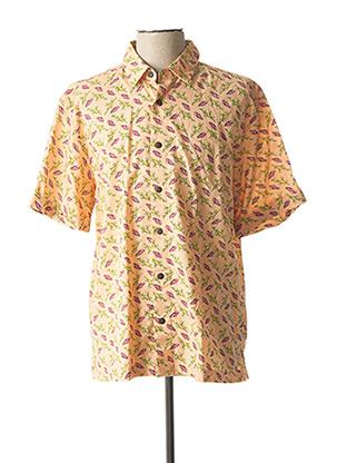 Chemise manches courtes orange SCOTCH & SODA pour homme