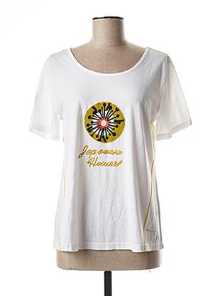 T-shirt manches courtes blanc AGATHE & LOUISE pour femme