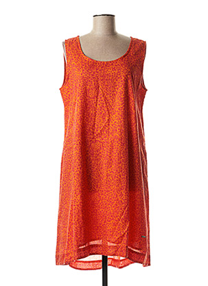 Robe mi-longue orange AGATHE & LOUISE pour femme