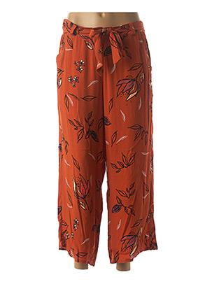 Pantalon casual orange LOLA ESPELETA pour femme