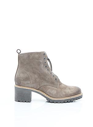 Bottines/Boots beige MKD pour femme