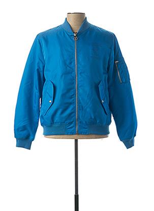 Blouson bleu MOSCHINO pour homme