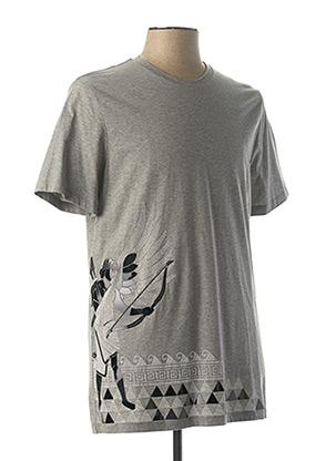 T-shirt manches courtes gris VERSACE JEANS COUTURE pour homme