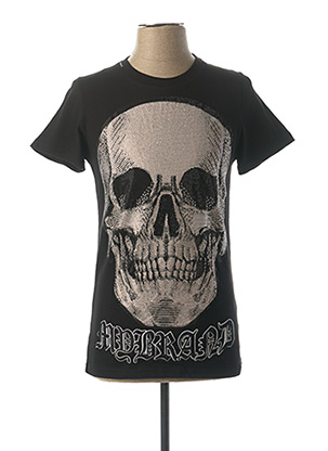T-shirt manches courtes noir MY BRAND pour homme