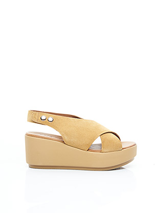 Sandales/Nu pieds beige INUOVO pour femme