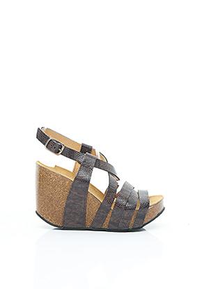 Sandales/Nu pieds marron PLAKTON pour femme