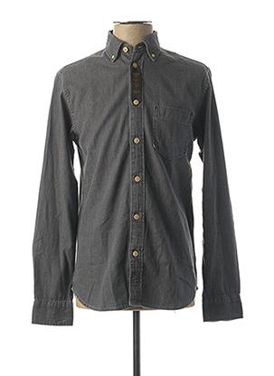 Chemise manches longues gris SELECTED pour homme