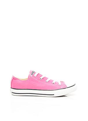 Baskets rose CONVERSE pour fille