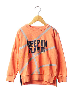 Sweat-shirt orange BOBOLI pour garçon