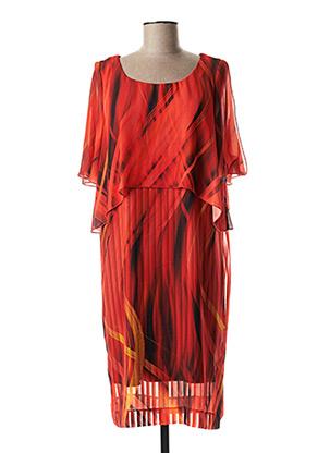 Robe mi-longue orange EROKE pour femme