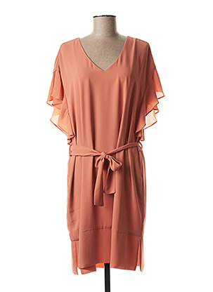 Robe mi-longue rose KOCCA pour femme