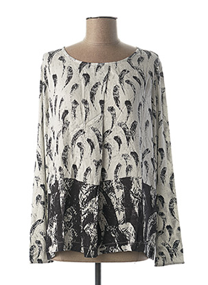 Blouse manches longues blanc BETTY AND CO pour femme