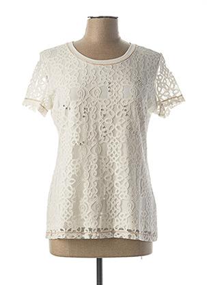 T-shirt manches courtes blanc LESLIE pour femme