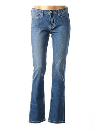 Jeans coupe droite bleu DENIM STUDIO pour femme