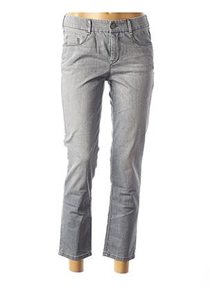 Jeans coupe droite gris ATELIER GARDEUR pour femme