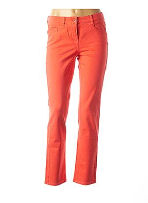Jeans coupe droite orange ATELIER GARDEUR pour femme
