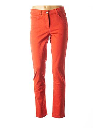 Jeans coupe slim orange BASLER pour femme