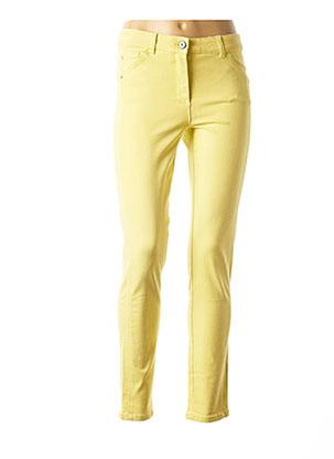 Jeans skinny jaune BASLER pour femme