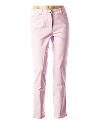 Jeans skinny violet BASLER pour femme