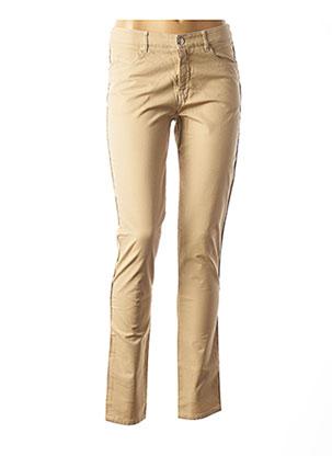 Pantalon casual beige DIPLODOCUS pour femme