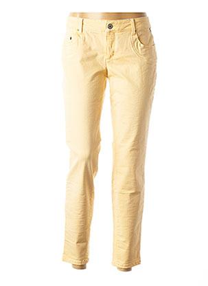 Pantalon casual jaune BETTY AND CO pour femme