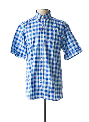 Chemise manches courtes bleu JEZEQUEL pour homme