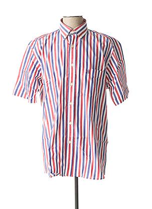 Chemise manches courtes rouge JEZEQUEL pour homme