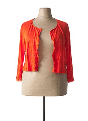Boléro orange MALOKA pour femme