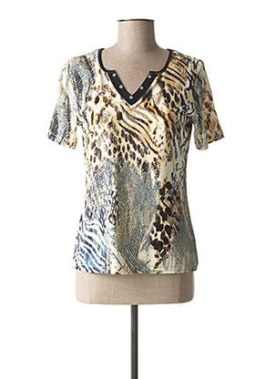 T-shirt manches courtes beige CHRISTINE LAURE pour femme