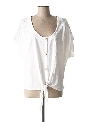 T-shirt manches courtes blanc C'EST BEAU LA VIE pour femme