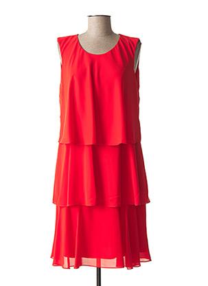 Robe mi-longue rouge CHRISTINE LAURE pour femme