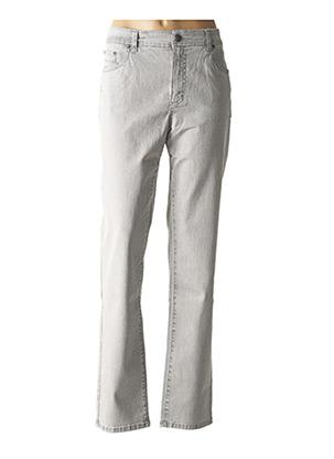 Jeans coupe droite gris ANNA MONTANA pour femme