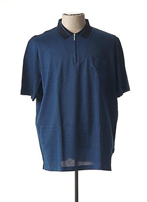 T-shirt manches courtes bleu HAJO pour homme